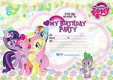 Mein Kleines Pony kinder Geburtstagsfeier Einladungen X 10 KARTEN + umschläge