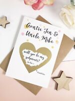 will you be my godparents proposal card, godmother, godparents, custom, GP2