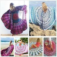 Indian Round Mandala Beach Throw Hippie Yoga Mat  Boho Tapestry Blanket Decor