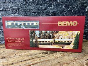 BEMO - H0e H0m M 1:87 - 7272 134 - Rhaetian Railway - 4 Car Pullman Set.