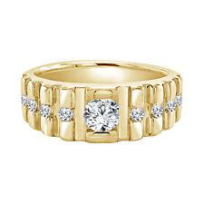 0.29 Ct Round Sim Diamond Mens Engagement Wedding Band Ring 14K White Gold Fn