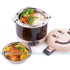 UK PLUG Electric 1.3L Lunch Box Small Rice Cooker Vacuum Seal Steamer Keep Fresh
