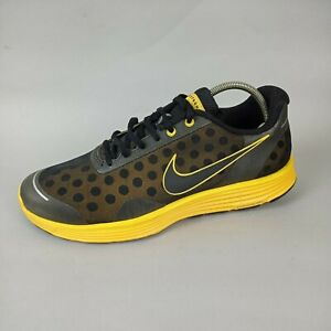 Nike Livestrong X  Lunarswift Black Yellow Trainers UK 8 442109-007 Armstrong