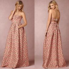 Anthropologie BHLDN Margaret Dress by Tracy Reese Rose Jacquard Sz 2 MSRP $798