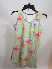 woman Bathing Suit top over swimming swim flower cover size M free ship