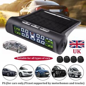 Wireless Tire Pressure Auto Tyre Monitor Monitoring System TPMS External Sensors