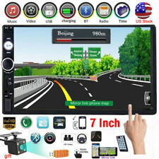 Bluetooth Double 2 Din 7'' Touch Screen Car Stereo IOS/Android Player FM AUX USB