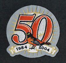 BALTIMORE ORIOLES 2004 50th ANNIVERSARY GRAY MLB UNIFORM PATCH