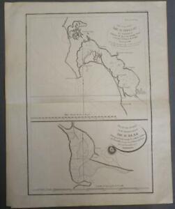 San Diego BAY CALIFORNIA UNITED STATES 1797 LA PÉROUSE ANTIQUE ORIGINAL CHART