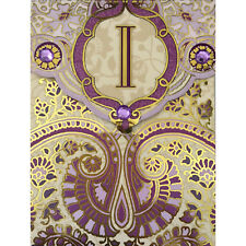 Punch studio greeting cards party supplies ebay 3x4 punch studio monogrammed notepad wgold foil pattern magnet closure m4hsunfo