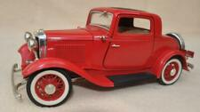 """ROAD LEGENDS  1:18 """" 1932 RED FORD 3 WINDOW COUPE """" DIECAST AMERICAN MODEL CAR"""