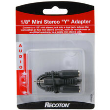 """US Seller! Lot of 4! Mini Male Stereo 3.5mm 1/8"""" To 2 Female Headphone Y Adapter"""