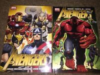 Avengers Volume 1 & 2 Hardcover HC Marvel Comics Bendis Romita Vol. 1 Vol. 2 Lot