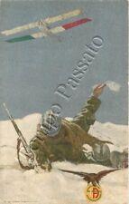 Pubblicità Società Italiana Aviazione, soccorso soldati / illustratore Dudovich
