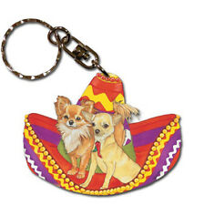 Chihuahua Wooden Dog Breed Keychain Key Ring