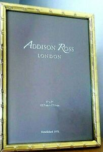 """Addison Ross London  NEW Gold toned bamboo effect photo frame 5x7"""" - RRP £33"""