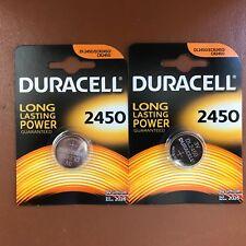 2X Duracell CR2450 3V Pilas de Botãn Litio Baterêas 2450 DL2450 Longest Caducan