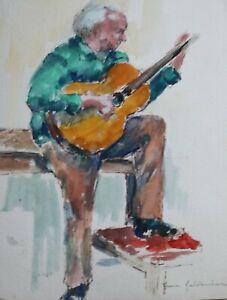 Fiona Goldbacher - Important British artist - The guitarist