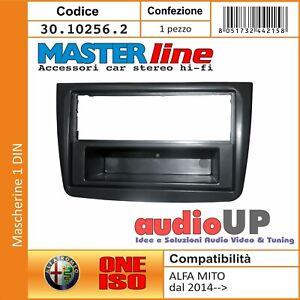 MASCHERINA AUTORADIO 1 DIN CON CASSETTO RIMOVIBILE ALFA ROMEO MITO DAL 2014->