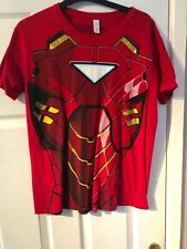 Iron Man Suit Men's Medium Graphic T-Shirt - Red. Marvel
