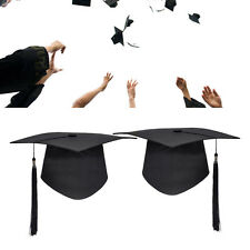 1Pc Black Mortar Board Adults Graduation Hat Cap University Dress Accessory