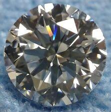 Round 10 mm Modern 4.4 ct VVS Natural White Sapphire Brilliant Diamond Solitaire
