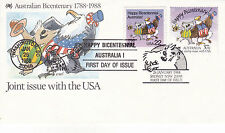 AUSTRALIA 26 JANUARY 1988 JOINT WITH UNITED STATES OFFICIAL FIRST DAY COVER SHS