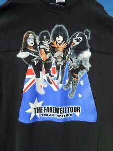 Kiss Vintage T Shirt Farewell Tour Size XL Extra Large 1973 - 2001