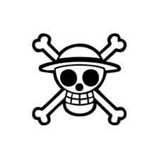 Luffy Skull - One Piece Vinyl Decal - Multiple Colors