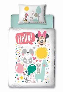 Baby Bettwäsche Set Disney Minnie Maus 100X135 40X60 Baumwolle Kleinkind Mädchen