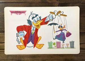 Walt Disney Placemat 1960's Vintage Ludwig Von Drake & Mary Poppins