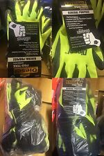 Wholesale pack of 12 pairs Lime Latex coated utility gloves by Diesel