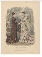 """Ladies Fashion Print - """"La Mode Illustree"""" 1878 No. 26"""