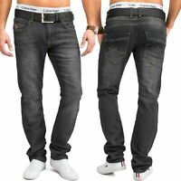 Neu Herren Jeans Hose Jogging Denim Stretch Full Flex Straight Fit