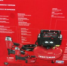 CRAFTSMAN 6-Gallon Single Stage Portable Electric Pancake Air Compressor 3 Tools