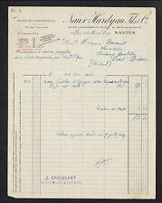 """NANTES (44) RIZ / RIZERIE DE LA MAISON ROUGE """"NAUX & HARDYAU Fils"""" en 1928"""