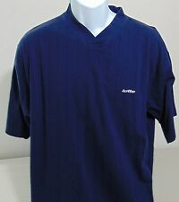 Lotto Blue V Neck Short Sleeve T-Shirt Mens Medium