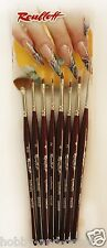 PROFESSIONAL BRUSHES FOR NAIL ART set  8 pcs FROM SYNTHETIC Russian Roubloff