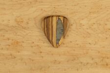 Zebra wood Wooden Guitar Pick Handmade with an Inlay and grip engraving