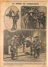 Dinde de Noël Christmas turkey Tommies London Soldats Blessés Londres WWI 1915