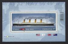 CANADA 2012 TITANIC  MINIATURE SHEET  UNMOUNTED MINT, MNH