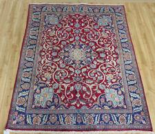 "4'5""x6' Plush Pile Antique Authentic Persian Oriental Floral Iranian rug"