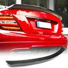 For Mercedes C-class W204 C204 C63 Amg Coupe 08-14 Carbon Rear Trunk Lip Spoiler