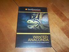 WANTED ANACONDA Giant Snakes Snake Amazon Anacondas Smithsonian Networks DVD NEW