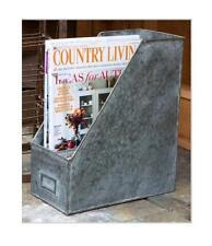 Galvanized Metal Magazine Rack File Holder-Desk Organizer-Mail