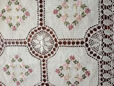 "Handmade Crochet Lace Tablecloth  COLOR BEIGE 100 % COTTON 36"" Square"