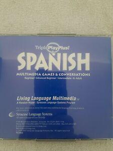 Triple Play Plus! Spanish Living Language Multimedia Learning Software Grammar 1