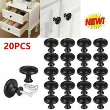 20pcs Cabinet Knobs Hardware Bedroom Kitchen Drawer Cupboard Handle Pulls Black