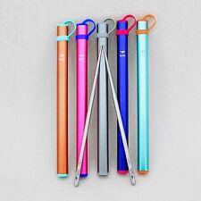 Keith Titanium Ti5822 Square Handle Chopsticks with Al Case (Set of 5 colors)