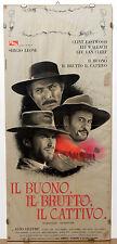 (PRL) 1966 LOCANDINA ORIG. CINEMA FILM LEONE IL BUONO BRUTTO CATTIVO EASTWOOD 66